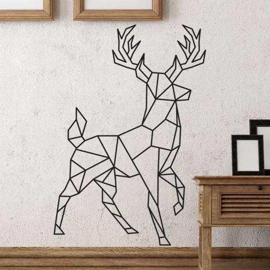 Stickers Cerf Géométrique Stickers Design Gali Art