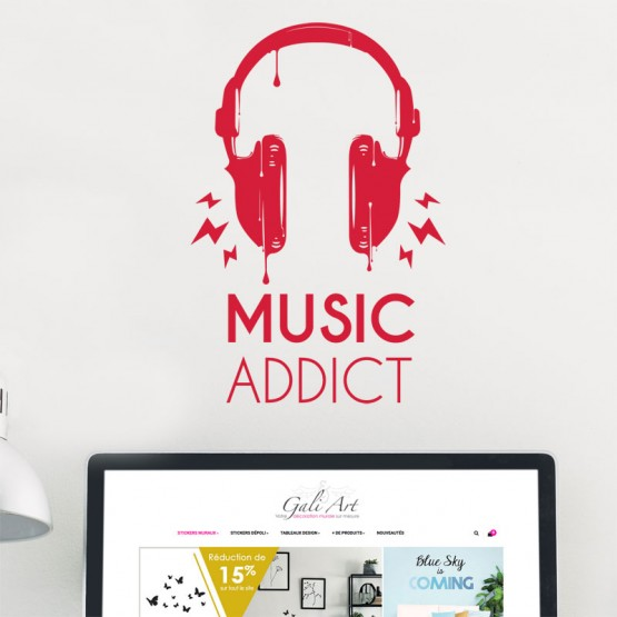 Stickers Music Addict Stickers Pop Gali Art