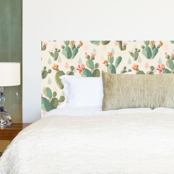 sticker tête de lit cactus - décoration chambre bohème nature- gali art