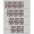 Tête de Lit Triangle rouge et noir Stickers Têtes de Lit Gali Art