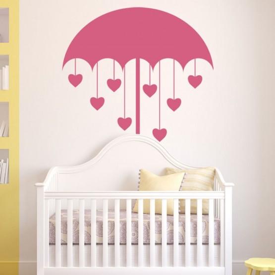 Sticker Parapluie Coeurs Stickers Chambres Enfants Gali Art