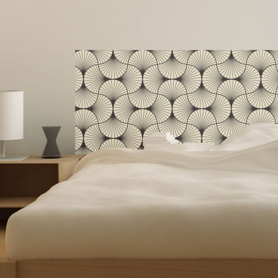 t te de lit adh sive art d co zen d coration chambre coucher design. Black Bedroom Furniture Sets. Home Design Ideas