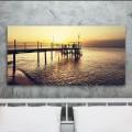 Tableau Coucher de soleil sur la Jetée Tableaux Atmosphère Gali Art