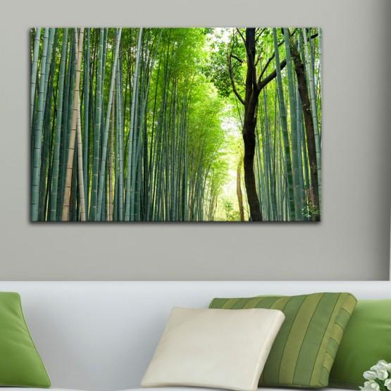 tableau foret de bambous d coration zen gali. Black Bedroom Furniture Sets. Home Design Ideas