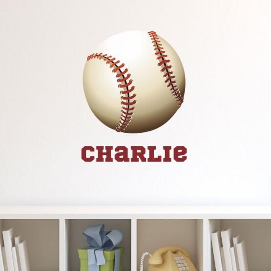 Sticker Baseball avec prénom Stickers Chambres Enfants Gali Art
