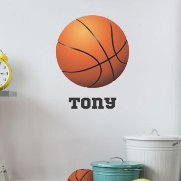 Sticker Basketball avec prénom