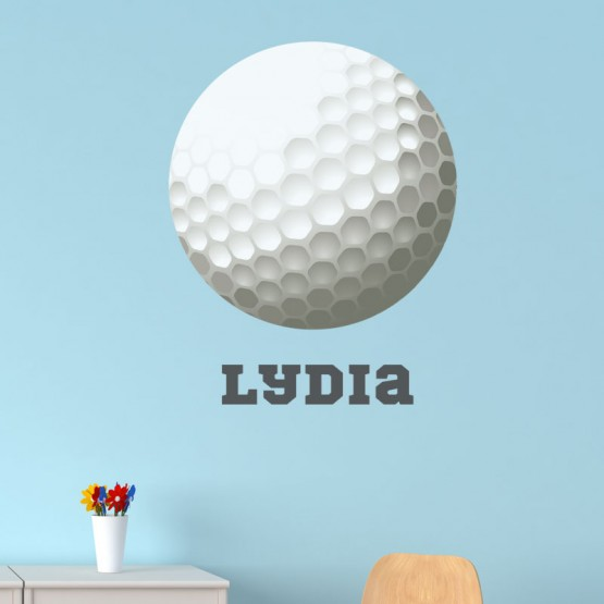 Sticker Balle de Golf avec prénom Stickers Chambres Enfants Gali Art