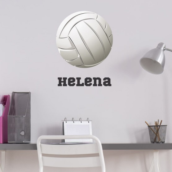 Sticker Volleyball avec prénom Stickers Chambres Enfants Gali Art