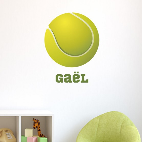 Sticker Balle de Tennis avec prénom Stickers Chambres Enfants Gali Art