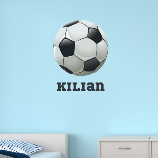 Sticker Ballon de Football avec prénom Stickers Chambres Enfants Gali Art