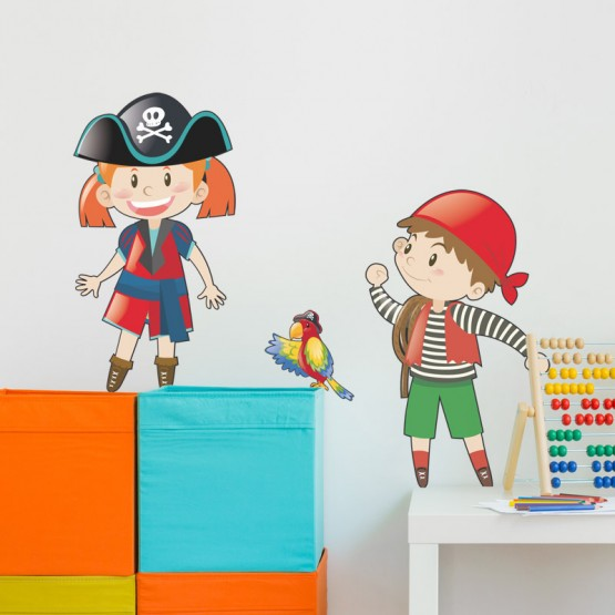 Stickers Duo de Pirates N°2 Stickers Chambres Enfants Gali Art