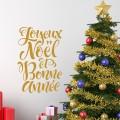 Stickers Texte Joyeux Noël et Bonne Année Stickers Festivités
