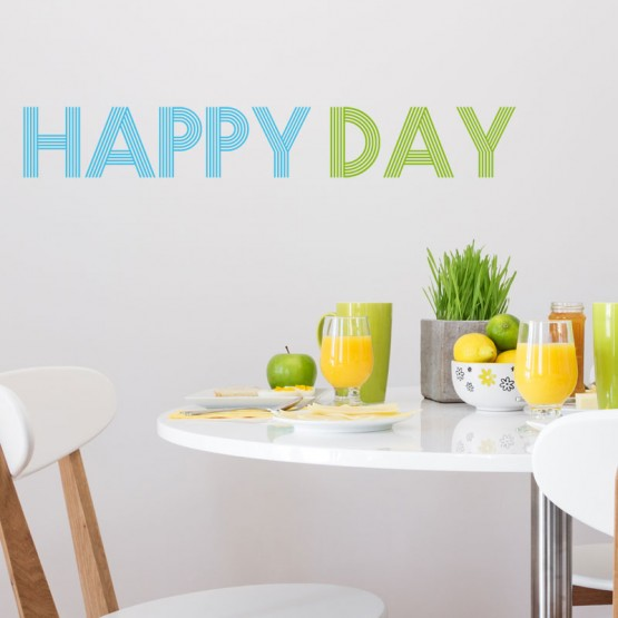 Stickers Texte Happy Day Stickers Texte et Citations Gali Art