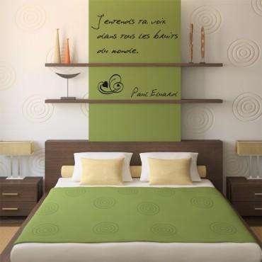 Sticker Citation d'Amour - Paul Eluard