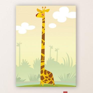 Tableau Illustration Girafe