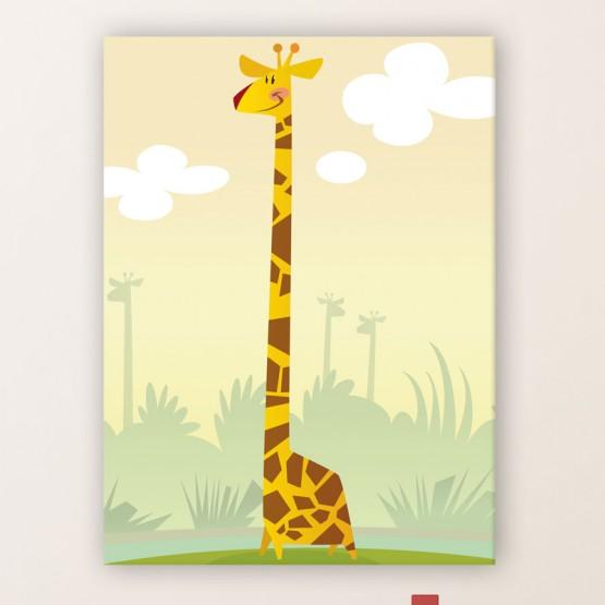 Tableau Illustration Girafe Tableaux Enfant Gali Art