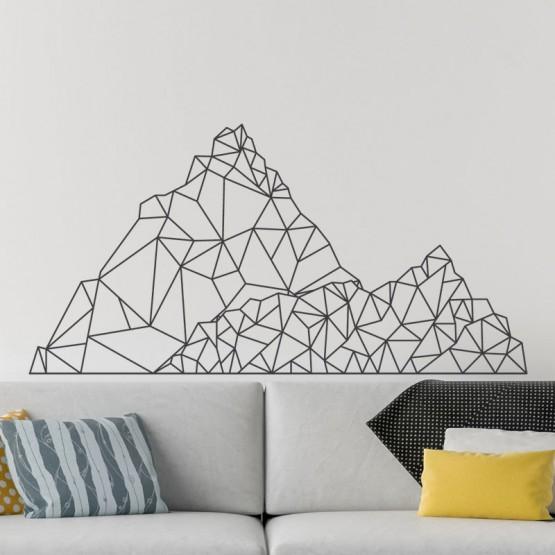 Stickers Montagne Géométrique Stickers Graphiques Gali Art
