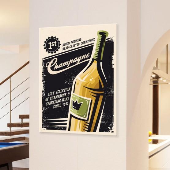 Tableau Champagne Tableaux Vintage Gali Art