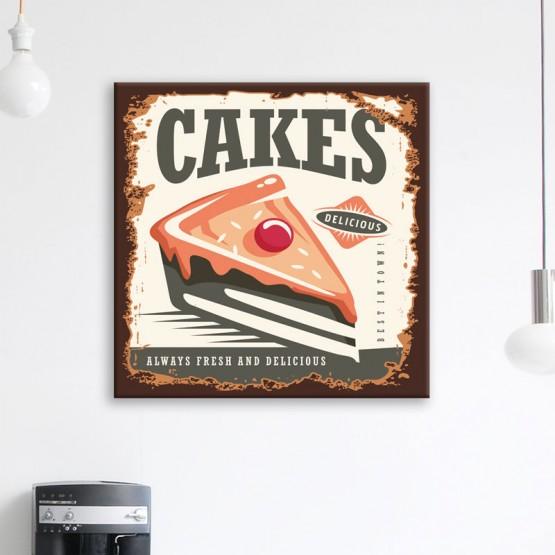 Tableau Delicious Cake Tableaux Vintage Gali Art
