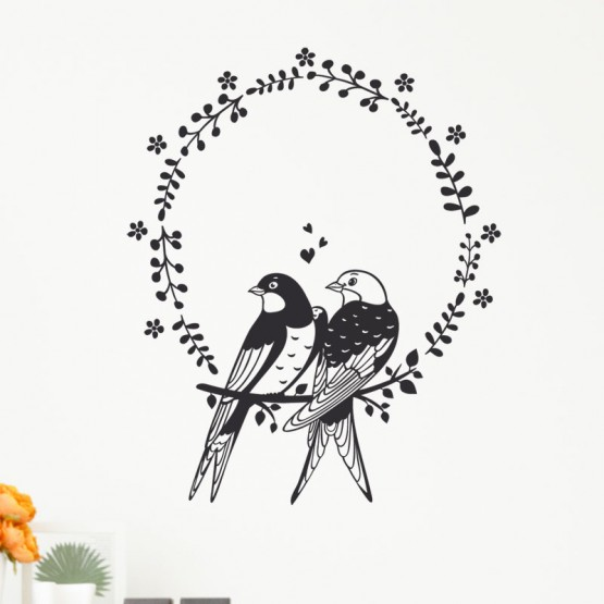 Stickers Oiseaux amoureux Stickers Nature Gali Art