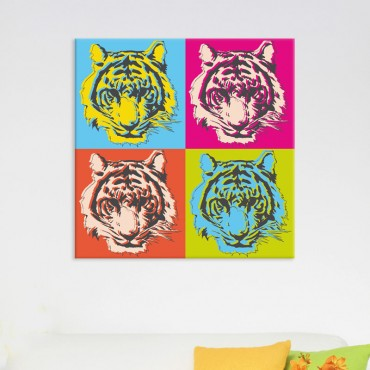 Tableau Tigre Pop Art