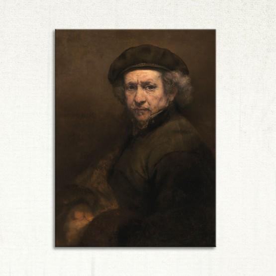 Autoportrait de Rembrandt Tableaux de Maitre Gali Art