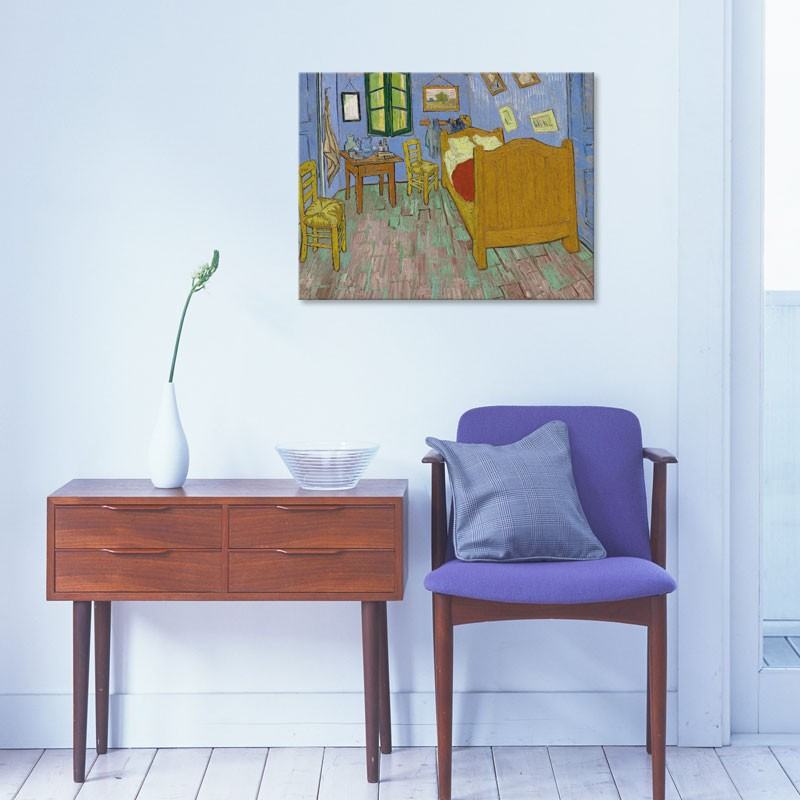 Tableau chambre coucher de van gogh reproduction toile de maitre gali - Tableau de van gogh la chambre ...