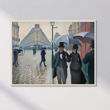 Rue de Paris, Temps de Pluie de Gustave Caillebotte