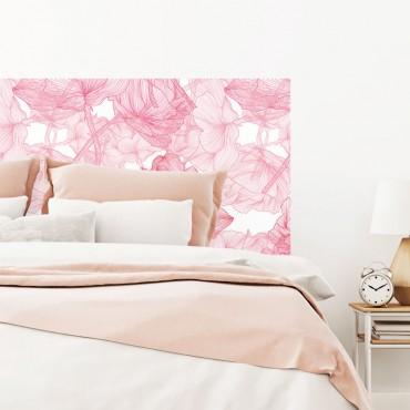 Sticker Tête de Lit Fleurs Roses