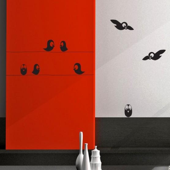 Stickers Oiseaux sur Fils