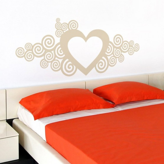 Sticker Grande Fresque Coeur Stickers Amour Gali Art