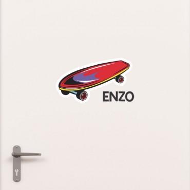 Kit Porte Skateboard avec prénom