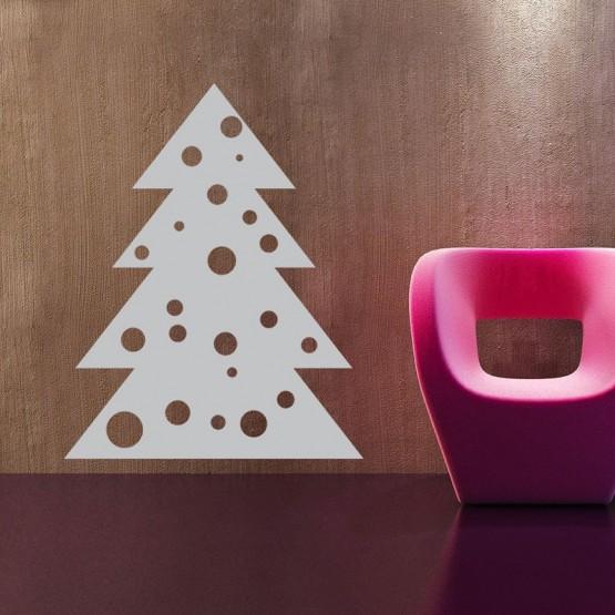 Sticker Sapin Boules de Noël