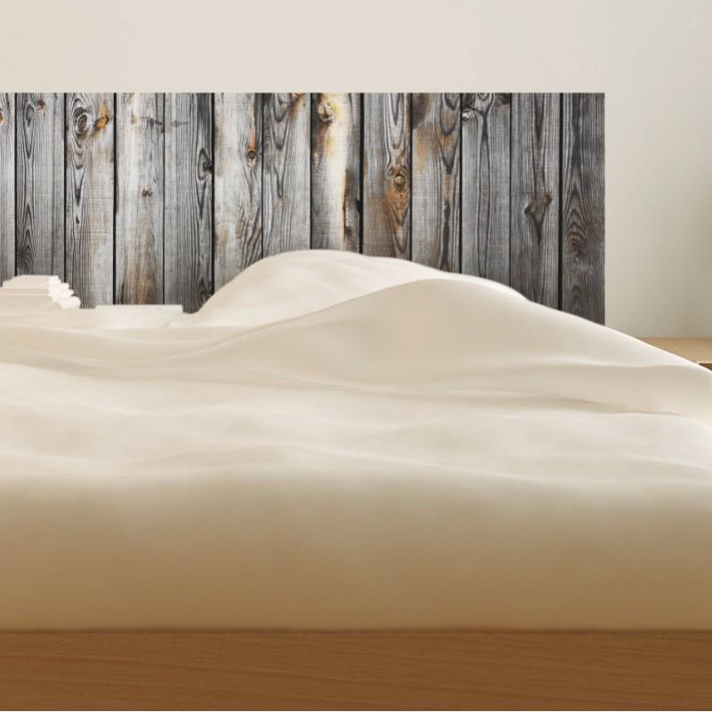 stickers muraux sticker t te de lit bois ancien. Black Bedroom Furniture Sets. Home Design Ideas