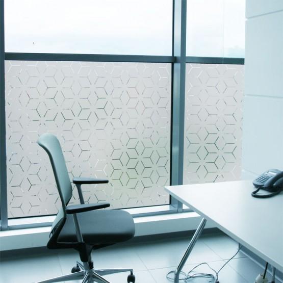 Sticker occultant fenêtre: Etoile déstructurée