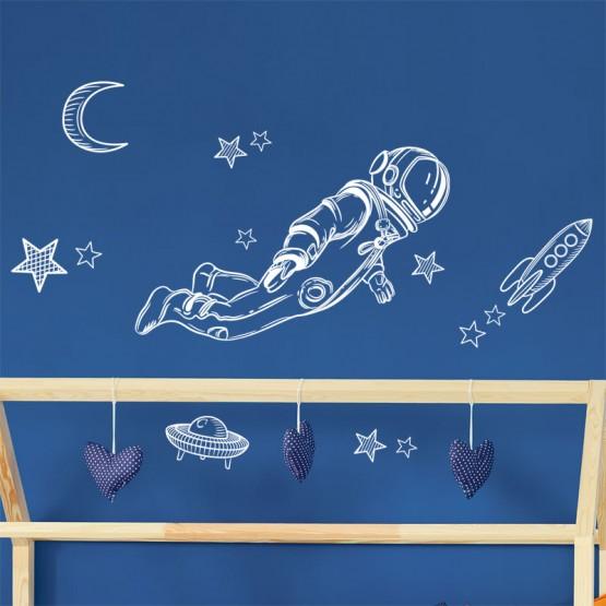 Décor mural Astronaute Stickers Chambres Enfants Gali Art