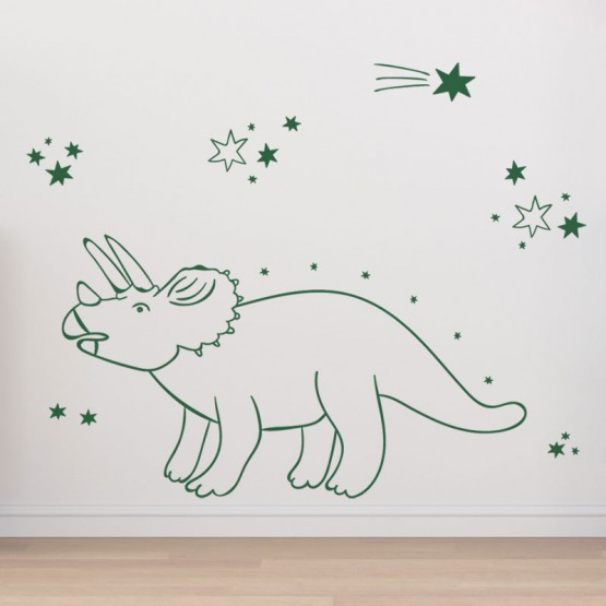 Stickers décor Triceratops Stickers Chambres Enfants Gali Art
