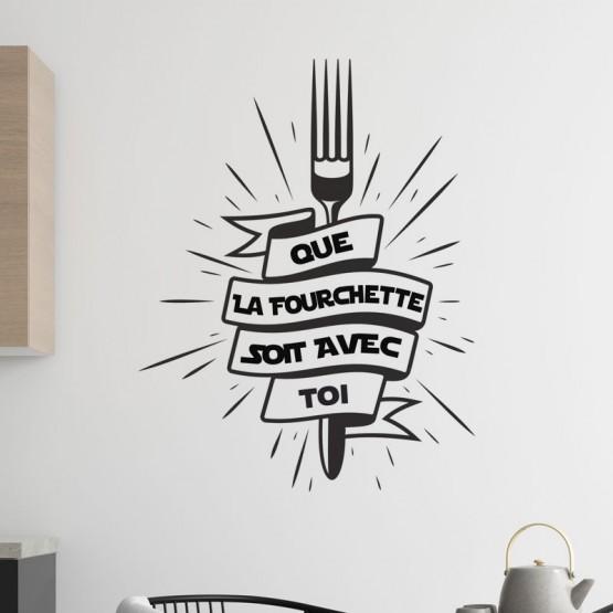 Stickers La Force de la Fourchette Stickers Cuisine Gali Art