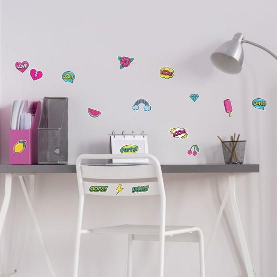 Kit de Stickers POP Acidulé Stickers Pop Gali Art