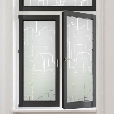 Sticker occultant fenêtre: Skyline Urbain
