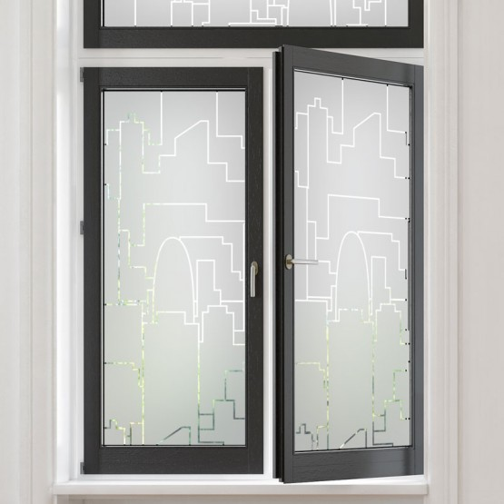 Sticker occultant fenêtre: Skyline Urbain Stickers Occultant Fenêtre Gali Art