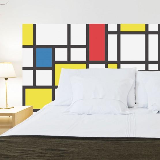 Tête de Lit Mondrian Stickers Têtes de Lit Gali Art