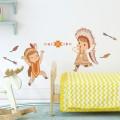 Stickers Décor Indiens joueurs Stickers Chambres Enfants Gali Art
