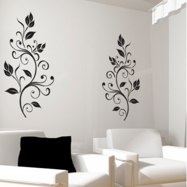 Stickers Arabesques Feuilles