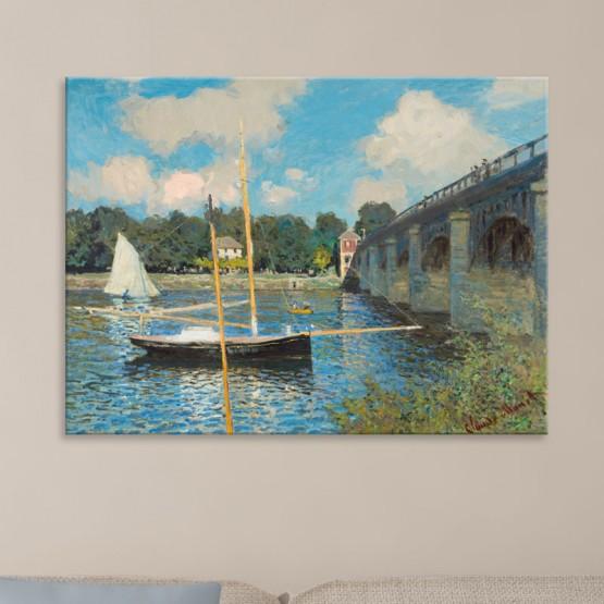 Le Pont D'Argenteuil de Claude Monet Tableaux de Maitre Gali Art