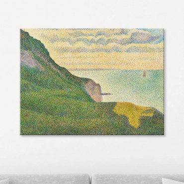 Les Grues et la percée à Port en Bessin de Georges Seurat