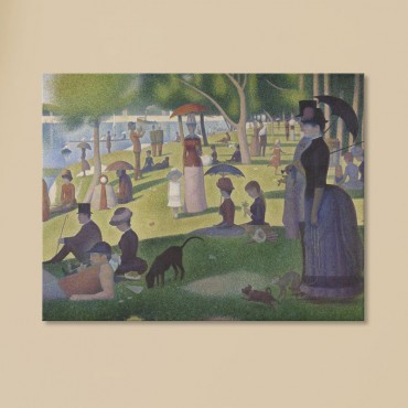 Un dimanche après midi à l'île de la Grande Jatte de Georges Seurat