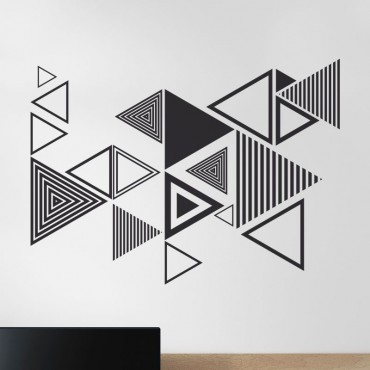 Décoration Triangles adhésif
