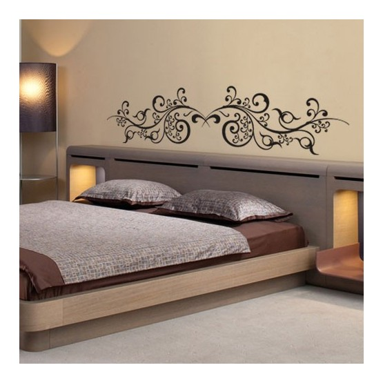 stickers t te de lit arabesques orientales d coration. Black Bedroom Furniture Sets. Home Design Ideas