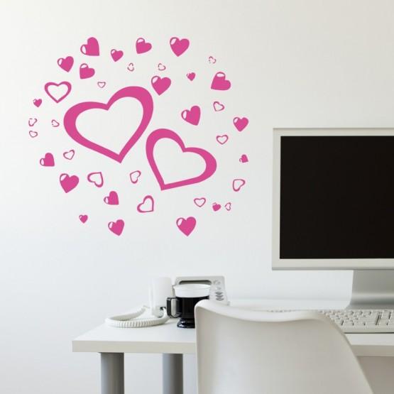 Sticker Eclat de Coeurs